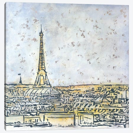 Paris Postcard Canvas Print #JSR87} by Julian Spencer Canvas Art