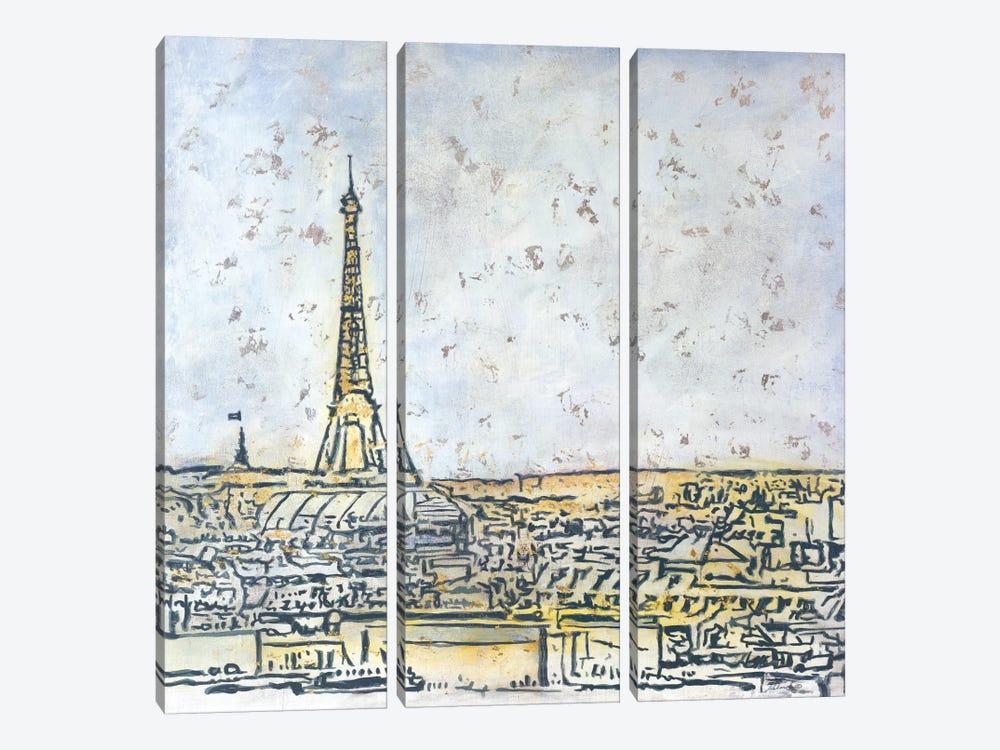 Paris Postcard by Julian Spencer 3-piece Canvas Art