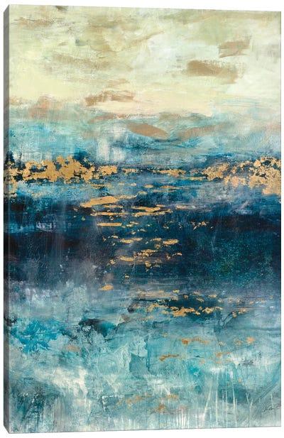 Teal & Gold Scape Canvas Art Print