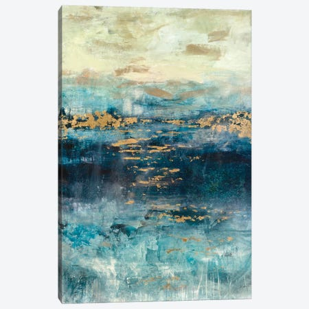 Teal & Gold Scape Canvas Print #JSR89} by Julian Spencer Canvas Art Print