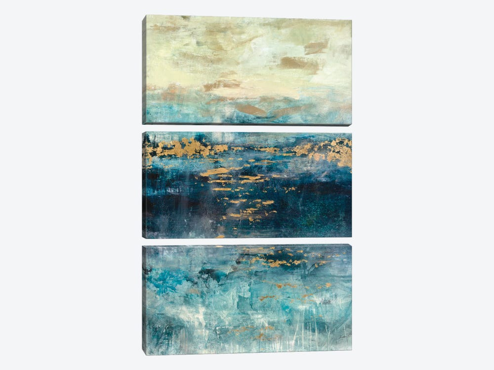 Teal & Gold Scape by Julian Spencer 3-piece Canvas Wall Art