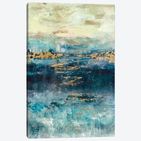 Teal & Gold Scape Canvas Print #JSR89} by Julian Spencer Canvas Art Print