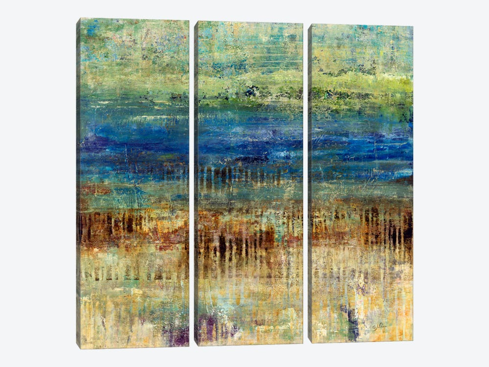 Patina Beach by Julian Spencer 3-piece Canvas Wall Art