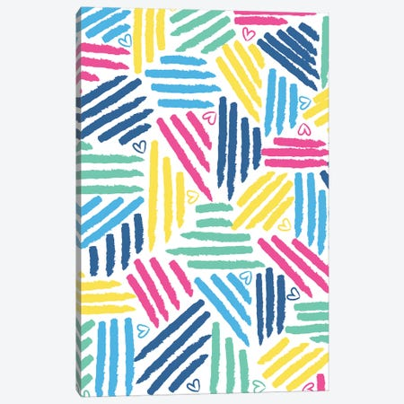 Painterly Stripes I Canvas Print #JSS12} by Jessica Weible Canvas Print