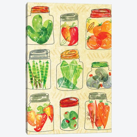 Garden Fresh I Canvas Print #JSS14} by Jessica Weible Canvas Wall Art