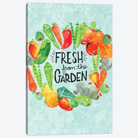 Garden Fresh II Canvas Print #JSS15} by Jessica Weible Canvas Artwork