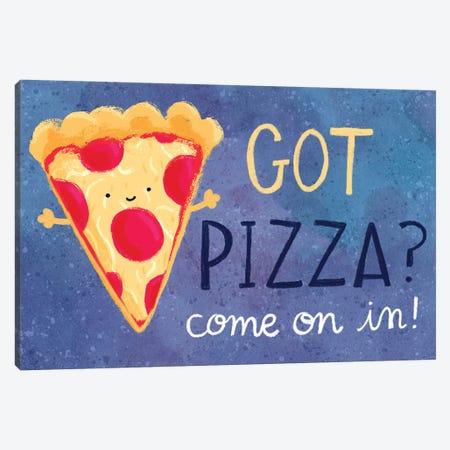 Got Pizza Canvas Print #JSS20} by Jessica Weible Canvas Art