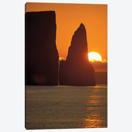 Kicker Rock (Leon Dormido) At Sunset, San Cristobal Island, Galapagos Islands, Ecuador Canvas Print #JST1} by Jack Stein Grove Art Print
