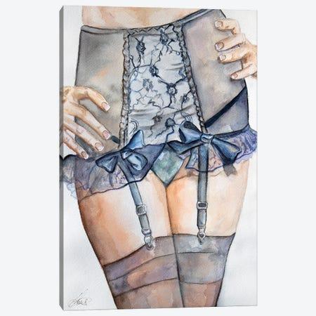 Midnight Blue Canvas Print #JSU19} by Jason Sauve Canvas Art Print