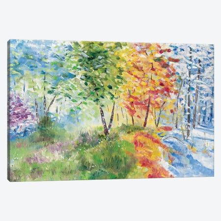 Seasons Canvas Print #JSU48} by Jason Sauve Canvas Wall Art