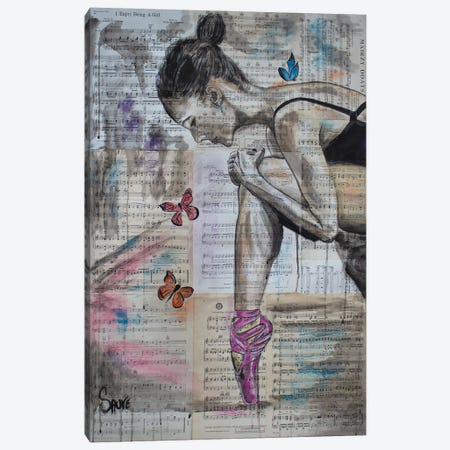 My Ballerina Canvas Print #JSU4} by Jason Sauve Art Print