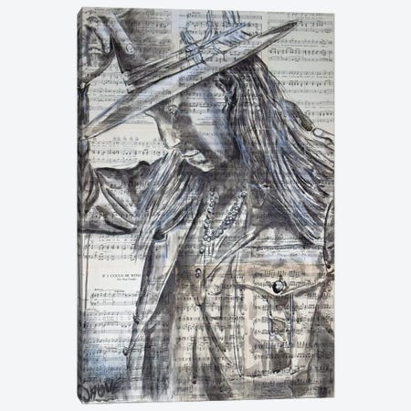 The Outlaw Canvas Print #JSU53} by Jason Sauve Art Print