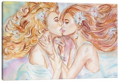 I Kissed A Girl Canvas Art Print