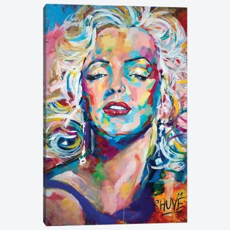 Marilyn Monroe Canvas Print #JSU7} by Jason Sauve Art Print