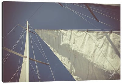 Sailing a Line Canvas Art Print