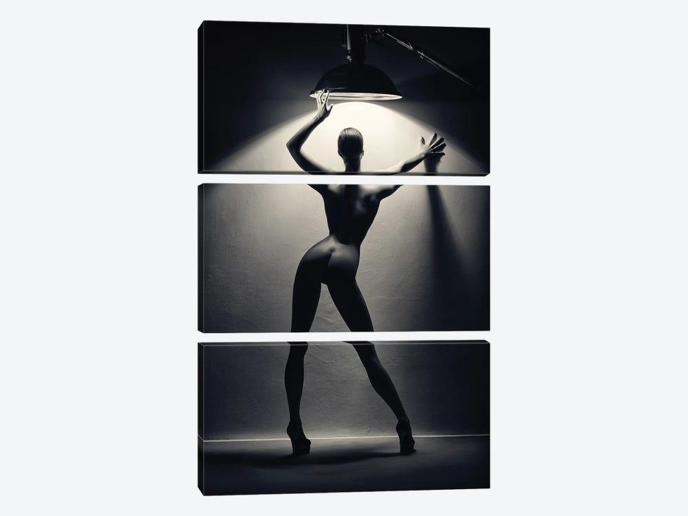 Woman In The Spotlight II by Johan Swanepoel 3-piece Canvas Art