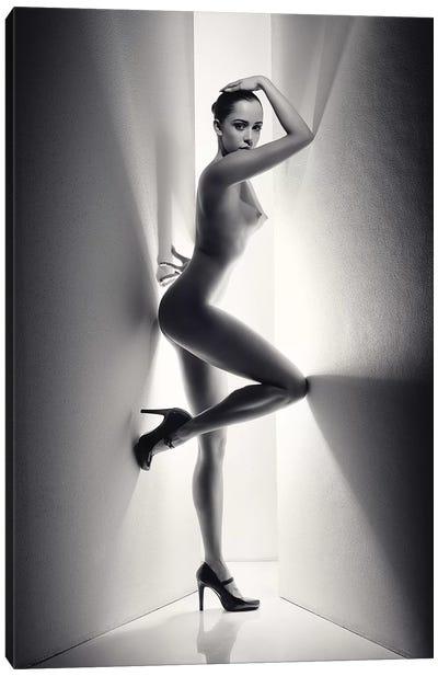 Nude Woman Between Walls Canvas Art Print