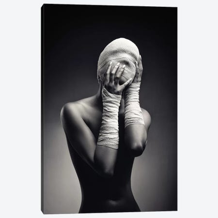 Woman In Bandages Canvas Print #JSW134} by Johan Swanepoel Canvas Wall Art