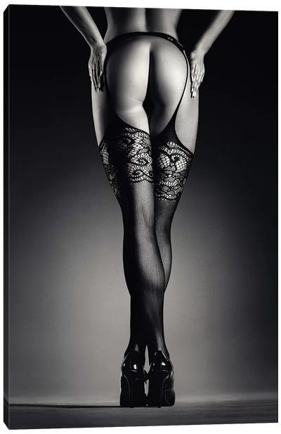 Sensual Legs In Stockings Canvas Art Print