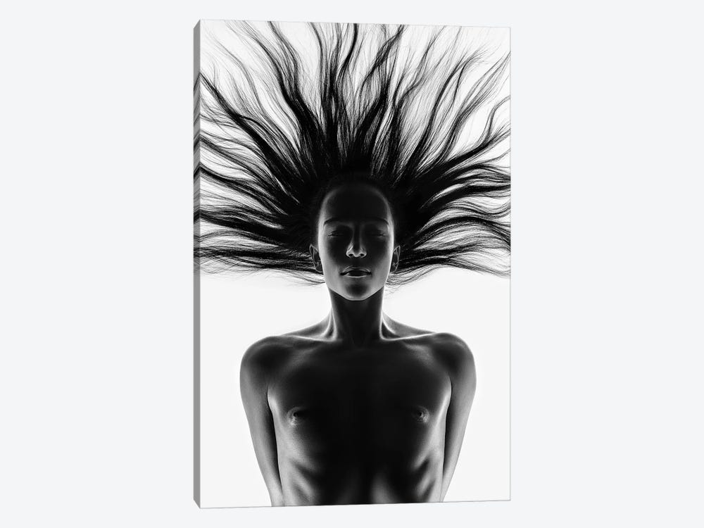 Nude Woman Fine Art 12 by Johan Swanepoel 1-piece Canvas Print
