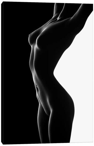 Nude Black Versus White II Canvas Art Print