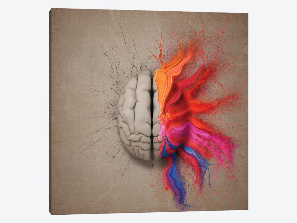 The Creative Brain by Johan Swanepoel 1-piece Art Print