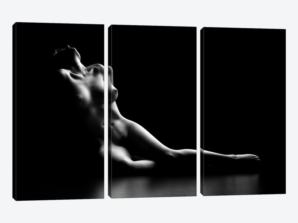 Nude Woman Bodyscape I by Johan Swanepoel 3-piece Canvas Print