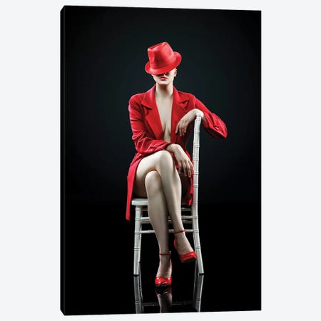 Woman In Red Canvas Print #JSW61} by Johan Swanepoel Canvas Artwork