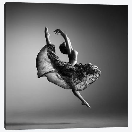 Ballerina Jumping Canvas Print #JSW62} by Johan Swanepoel Canvas Artwork