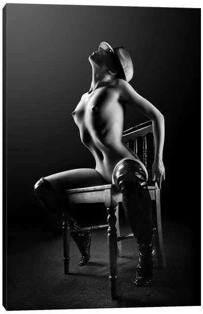 Nude Woman On Chair II Canvas Art Print