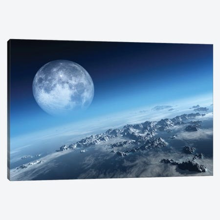 Earth Icy Ocean Aerial View Canvas Print #JSW88} by Johan Swanepoel Canvas Artwork