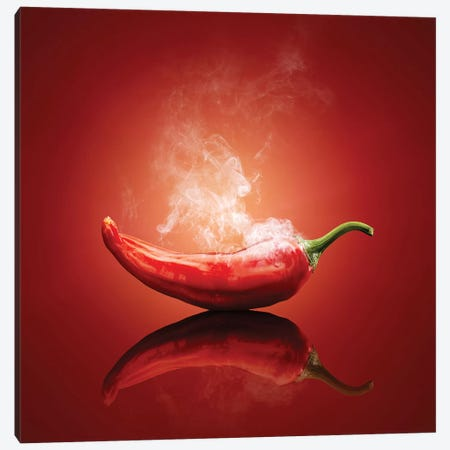 Chili Red Steaming Hot Canvas Print #JSW90} by Johan Swanepoel Canvas Print
