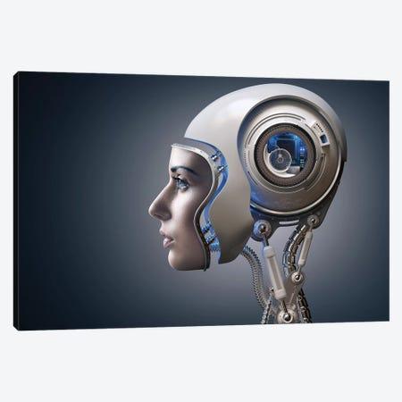 Next Generation Cyborg Canvas Print #JSW93} by Johan Swanepoel Canvas Art Print