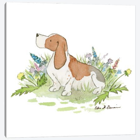 Barney The Basset Hound Canvas Print #JSY101} by Jasper And Ruby Canvas Print