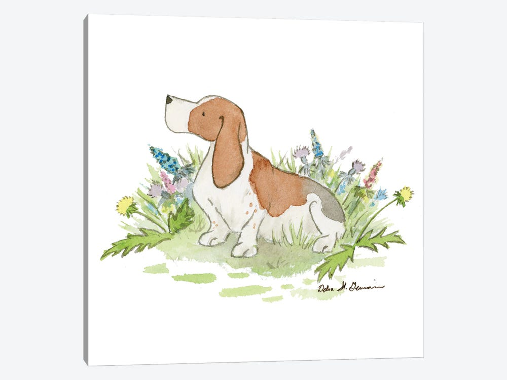 Barney The Basset Hound by Jasper And Ruby 1-piece Canvas Art Print