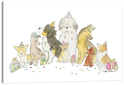Puppy Party Canvas Art Print