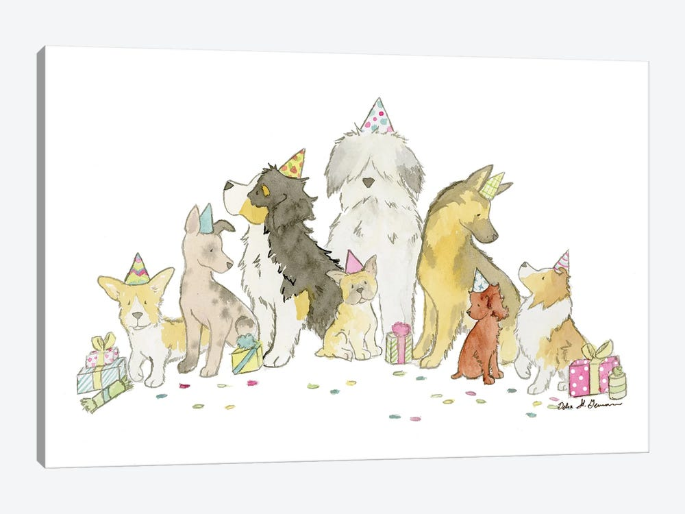 Puppy Party by Jasper And Ruby 1-piece Art Print