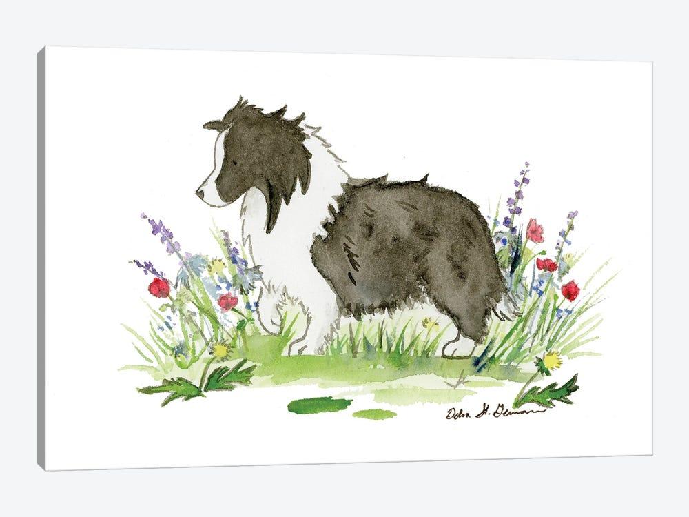 Raven The Bi Black Shetland Sheepdog by Jasper And Ruby 1-piece Art Print