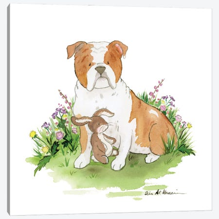 Cooper The English Bulldog Canvas Print #JSY111} by Jasper And Ruby Canvas Art