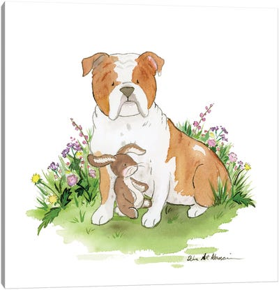 Cooper The English Bulldog Canvas Art Print