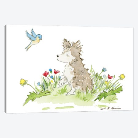 Birdie The Long Haired Chihuahua Canvas Print #JSY112} by Jasper And Ruby Canvas Artwork
