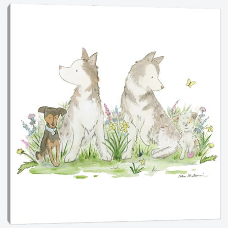 Buddies Canvas Print #JSY118} by Jasper And Ruby Canvas Art