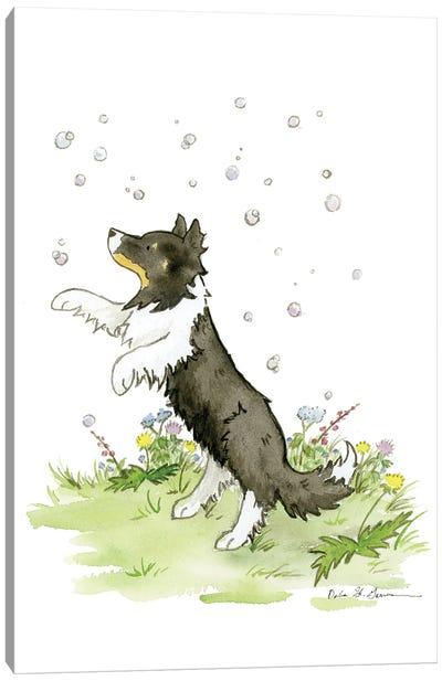 Blair Loves Bubbles Canvas Art Print