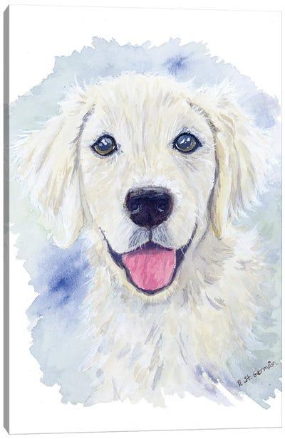 Charlie The Golden Retriever Puppy Canvas Art Print
