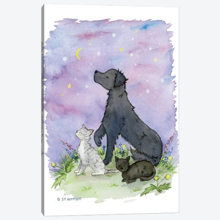 Clarence And The Cats Canvas Print #JSY133} by Jasper And Ruby Canvas Artwork