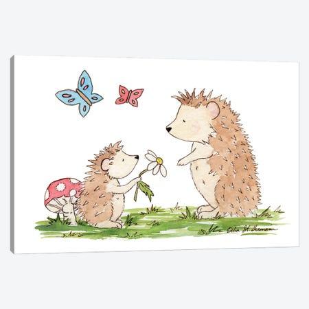 Woodland Hedgehogs Canvas Print #JSY18} by Jasper And Ruby Canvas Art Print