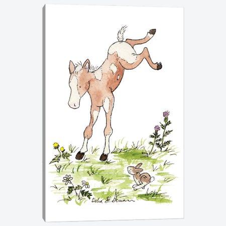 Kicking Foal Canvas Print #JSY19} by Jasper And Ruby Canvas Print