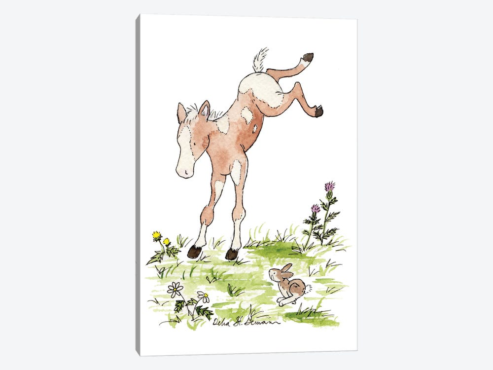 Kicking Foal by Jasper And Ruby 1-piece Canvas Artwork