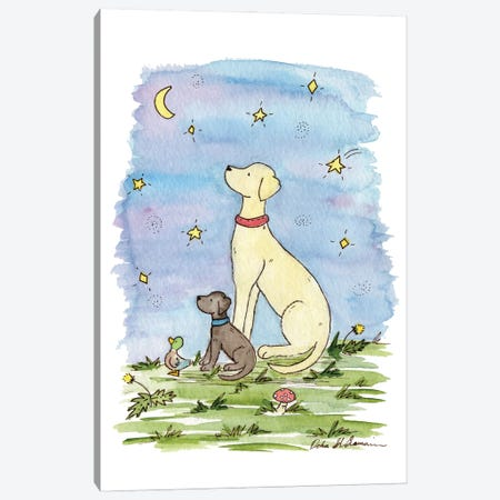 Star Gazing Labradors Canvas Print #JSY29} by Jasper And Ruby Canvas Art