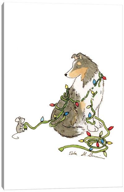 Christmas Sheltie Canvas Art Print